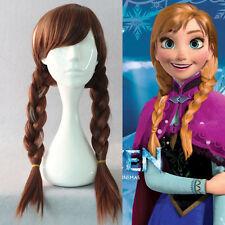 FROZEN Princess ANNA Elsa Wig Adjustable for Women Adult Kid Hair Plait Ponytail
