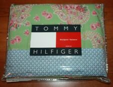 Tommy Hilfiger Country Chic Window Designer Valance Blue Green Pink Cotton NEW !