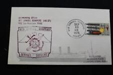 Naval Cover 1976 Ship Cancel Ship'S Cachet Uss Samuel Gompers (Ad-37) (6175)