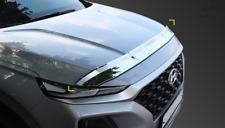 Chrome Bonnet Hood Guard Garnish Deflector K857 Silver for Hyundai Santa Fe 2019
