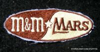 "M & M MARS CANDY COMPANY EMBROIDERED SEW ON PATCH ADVERTISING 3 1/4"" x 1 1/4"""