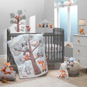Bedtime Originals Woodland Friends 3-Piece Animals Mint/Gray Crib Bedding Set
