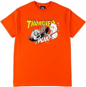 THRASHER 40 YEARS NECKFACE Short SLEEVE LIMITED EDITION ORANGE t-shirt