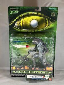 "1998 BANDAI TRENDMASTERS GODZILLA 6"" Tornado Blast vs Apache Helicopter IN BOX!!"