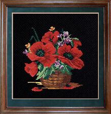Poppies - Cross Stitch Kit with Color Symbolic Scheme SKU:068