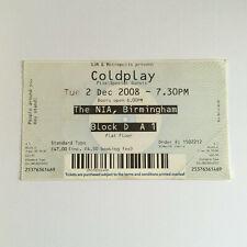 Coldplay - 2/12/2008 Birmingham NIA concert Ticket Stub