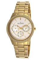**BRAND NEW** SKAGEN LADIES GOLD MOP CRYSTAL WATCH 347LGXG1 - - RRP £179