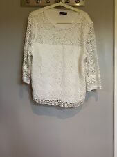 Mint Velvet White Lace Top Size 18