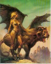 Boris Vallejo postercard: winged Beast (estados unidos, 1992)