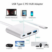 Type C to 4K HDMI USB 3.0 Charging HUB Adapter USB-C 3.1 Converter Kits·