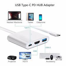 Type C to 4K HDMI USB 3.0 Charging HUB Adapter USB-C 3.1 Converter Kits