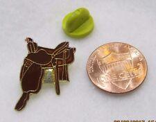Brown Horse Saddle Cowboy Western Lapel Pin Pinback