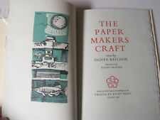 Oliver Bayldon - The PAPER MAKERS CRAFT  Verse - Signed 1st Edition 1965