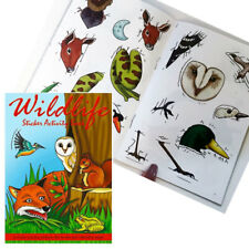 WILDLIFE STICKER MINI ACTIVITY BOOK A6 PARTY BAGS ANIMAL KIDS STICKER BOOK NEW