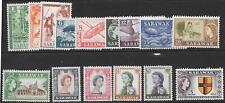 SARAWAK SG188/202 1955 DEFINITIVES  MNH