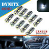2Pcs 501 Led T10 W5W 8Smd Xenon White Car Wedge Side Light Bulbs 12v Hid Canbus
