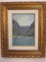 Amelia Darr (Florida Artist) Original Oil Painting Landscape, Framed, Signed