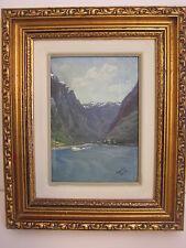 Amelia Darr (Florida Artist) Original Oil Painting Landscape, Framed, Signed