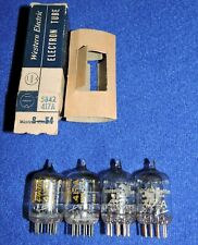 Lot de 4 tubes 417A 2* Western Electric & 2* Valvo  tested