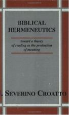 Biblical Hermeneutics: Toward a Theory of Reading As the Production of Meaning