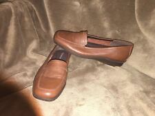 """Women's Easy Spirit """" Esviamo"""" Brown Leather Loafers Size 7.5 B"""