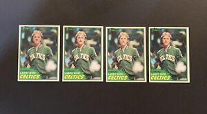 1981-82 Topps Larry Bird LOT OF 4 CLEAN Rookie RC Cards #4 Celtics HOF