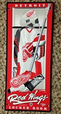 Detroit Red Wings 18x9 Inch Plastic Sign Wall Decoration NHL Hockey Locker Room