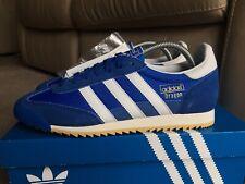 Adidas Dragon Vintage Blue & White Deadstock Retro 80s Football Casuals Size 7