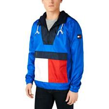 Tommy Hilfiger Mens Gaff Blue Colorblock Hooded Jacket...