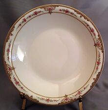Theodore Haviland Soup Bowl(s) - Pink Rose/Scroll Border S618