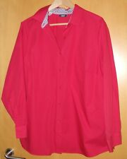 Schöne Damen Bluse, rot, Größe 46, langärmlig, Walbusch extraglatt, Cotton