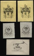 More details for victoriain early bookplate lot of 9 from old gents collection