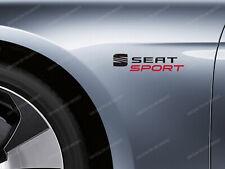 2 x Seat Sport Stickers for Wings Leon Cupra Ibiza FR Arona Ateca Tarraco