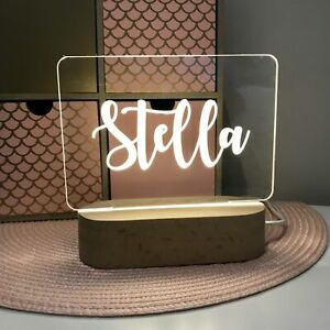Plaque ONLY Personalised Name Night Light