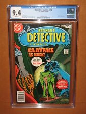 Detective Comics #478 CGC 9.4 with WHITE pages CLAYFACE 12 HD pix! Ships INSURED