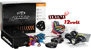 Avital 3100LX 3-Channel Car Alarm System w/ (2) 4-Button Remotes & Keyless Entry