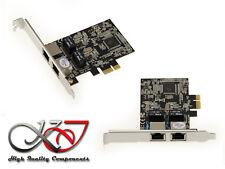 Carte PCIE 10/100/1000 2 PORTS LAN GIGABIT ETHERNET - WAKE ON LAN - REALTEK