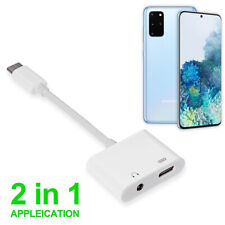 USB C to 3.5mm Adapter 2 IN 1 Audio Charger Splitter Type C Aux Headphone Jack