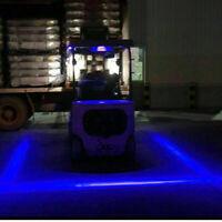 30W Blue Line LED Forklift Truck Car Warning Lamp Safety Working Light 10-80V