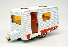 """Matchbox Superfast Nr.30C Caravan weiß """"mobile 500"""" Aufdruck d'braune Tür"""