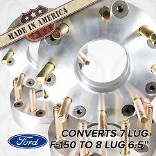 "4 USA Made 7 Lug FORD F150 | 7X150 To 8 Lug CHEVY 8x6.5 Wheel Adapter/Spacer 2"""