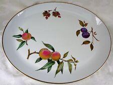 Royal Worcester Made In England Evesham Gold Porcelain Oval Serving Platter