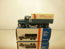 LION CAR 72 DAF N2800 TORPEDO TRUCK MUSEUM - BLUE 1:50 RARE  - VERY GOOD IN BOX