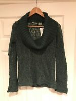 Guinevere Anthropologie Green & Gray Cowl Neck Sweater, Size XS