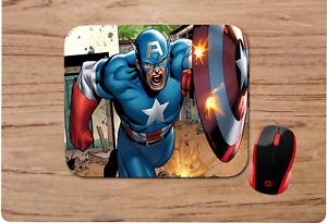 CAPTAIN AMERICA  MOUSEPAD MOUSE PAD HOME OFFICE GIFT DESIGN 3