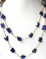 925 Sterling Silver Fancy Lapis Lazuli  Lovely chain Jewelry necklace
