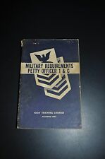Military Requirements Petty Officer 1 & C Navy Training Course book 1958 Navpers