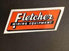 New listing Nice Fletcher Mining Machinery Coal Mining Sticker Hard Hat Decal Rare