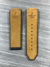 Hublot Big Bang 45mm strap - Black rubber back Nubuck Tan stitching Small Size