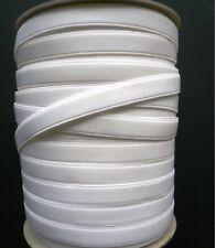 White Quality Haberdashery Bra Strap Waist Elastic 20mm Plush Back 2.8meters